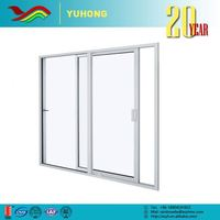 Hot selling low price grill design energy efficient automatic sensor glass sliding door
