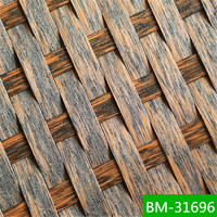 All-weather high temperature resistance PVC wicker material for outdoor furniture BM-31696
