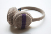 Plush ear muff knitted warmer cashmere earmuff