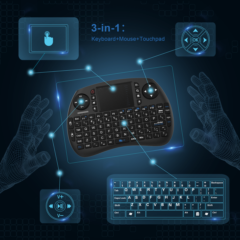 Oem Logo Printed Abs Plastic Black For Mac Mini Keyboard Living Room