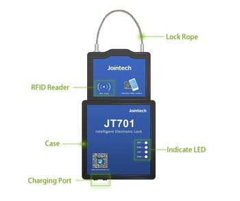 GPS container seal lock tracker JT701
