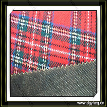 eco friendly plaid fabric glue-bonded mesh fabric for luggage wallet