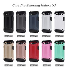 PC + TPU Hybrid Material SHockproof Handset Case Covers for Samsung Galaxy S3 I9300