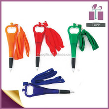 Promotional Ball Pen With Bottle Opener Strap Ball Pen