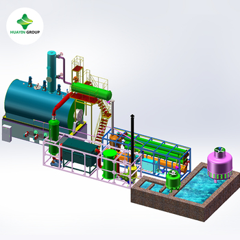 Recycle waste tire / plastic pyrolysis oil waste engine oil waste lubricant oil to diesel plant