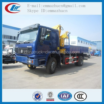 good quality howo 4x4 crane truck