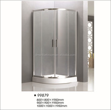 Polished profile frame shower enclosure
