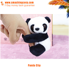 promotional Mini high quality plush panda memo clip stuffed animals for gift