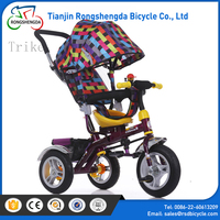 trending products 2017 tricycle for toddler with push bar for mother,best new products toddler tricycle with push handle
