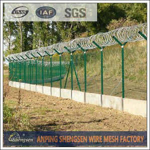 barbed wire roll price fence with ISO 9001 cert
