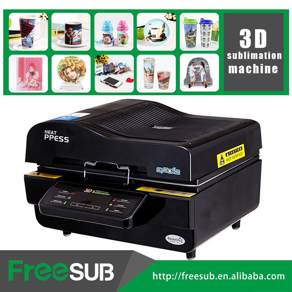 Freesub 3d sublimation vacuum mug phone case heat press printing machine A3 ST-3042
