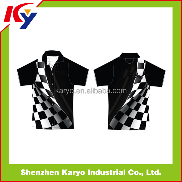 Custom Sublimation Racing Pit Crew Shirt Wholesale
