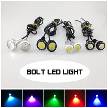 Factory Sales 23mm Diameter Car Led Bolt Bulb, 12 Volt Led Lights 2pcs/lot Tail Number Car Auto Motorcycle License Plate Lamp