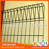 Plastic Powder Coated BRC Fence With Top Decoration