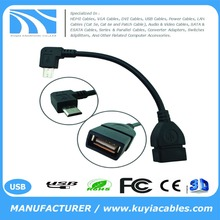 90Degree Angle Micro USB OTG Host Cable for Nexus 7 Tablet