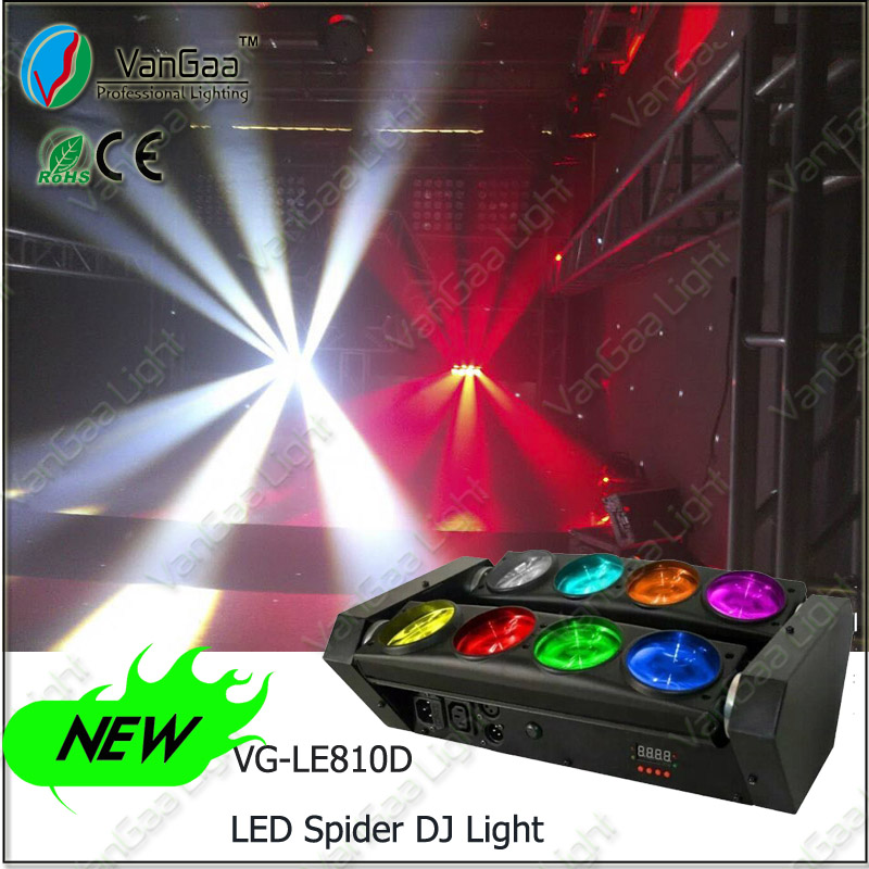 VanGaa 8pcs spider led moving head Professinal stage lighting