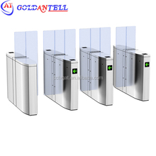retractable turnstile automatically rfid access control full height single glass barrier for school bus students security