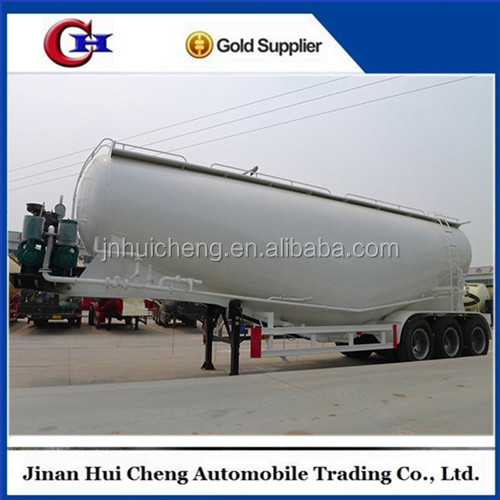 45 CBM wheat flour 3 axle bulk cement tank cement semi-trailer