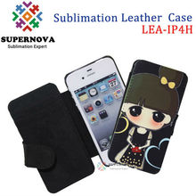 Sublimation Leather Phone Case for iPhone 4 4s