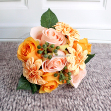 Factory outlet beautiful decoration silk flower artificial Rose flowers artificial or wedding bouquet