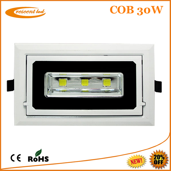 Amelia--To replace halogen lights cob 30w rectangular led downlight