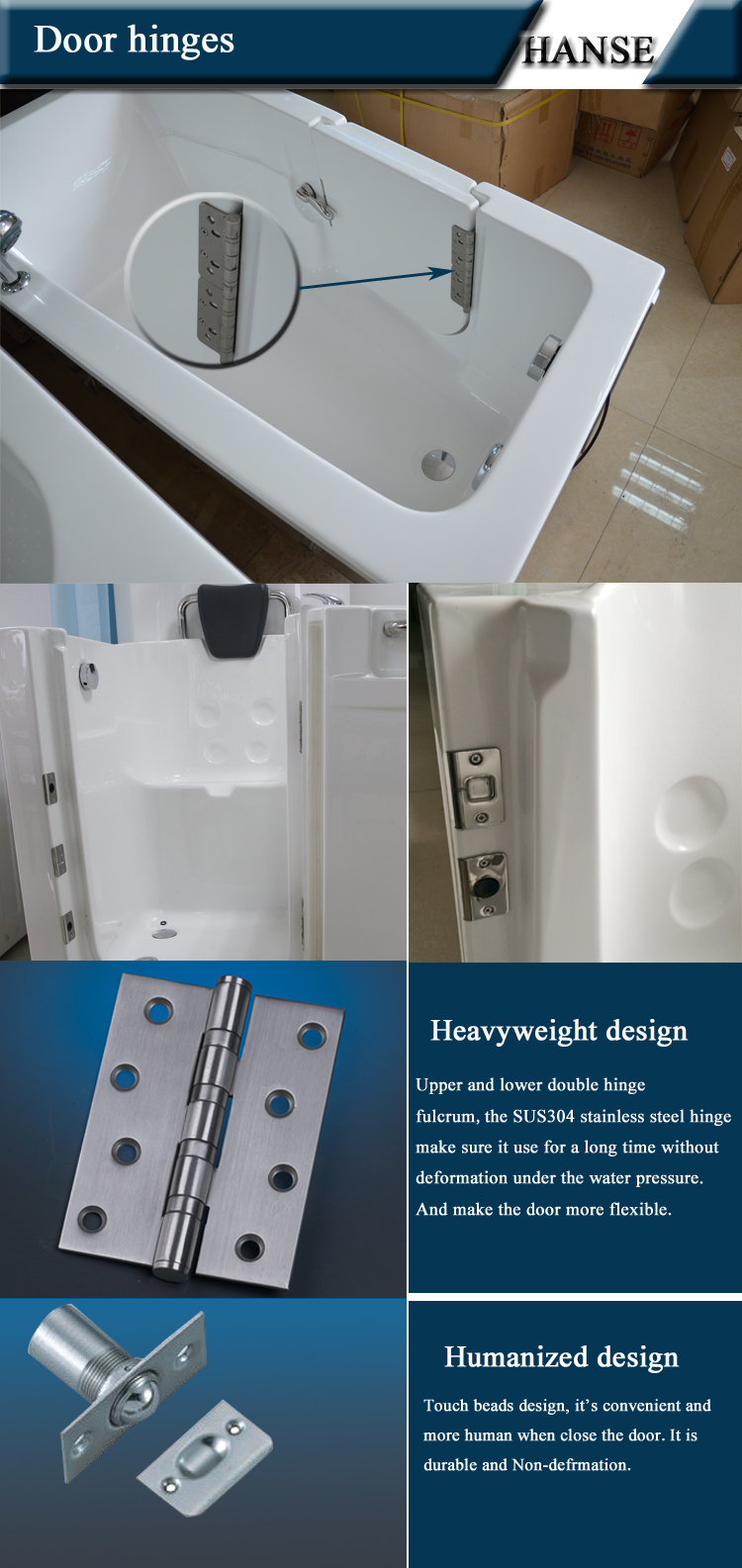 Hs-1101b New Design Walk In Old Man Disability Bathtubs Small With ...