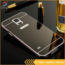 Unique design electroplating mirror black case for samsung s5