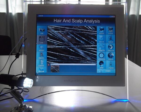 Professonal hair and scalp analysis salon use hair analyser