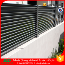 aluminum louvre fencing panels with timber color