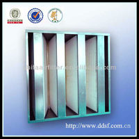 Aluminum Frame Mini Pleated Box Type Ahu Filter