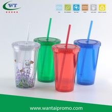 16 oz Double Wall Acrylic Tumbler With Paper Insert