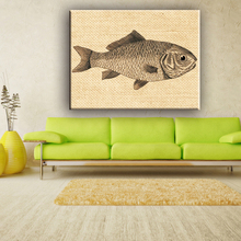 Printed upscale hotel animal designs home goods wall art fabric canvas painting
