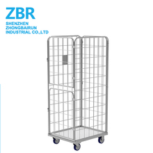 Metal Rolling Security Foldable Trolley Cage