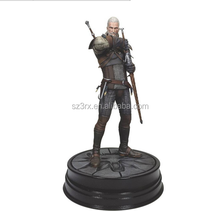 Hot Sale 7'' Witcher Wild Hunt Action Figure/OEM Design PVC Decoration TV Action Figure/China Factory making model action figure