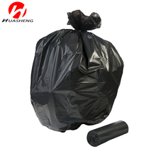 Factory wholesale LDPE Star Seal bottom garbage bag Black Color