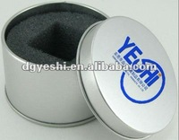 Aluminum metal round tin box for gift and packaging watch