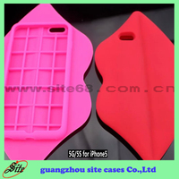 Lips Silicone cell phone case for iphone 4s 5s 6 6 plus wholesale