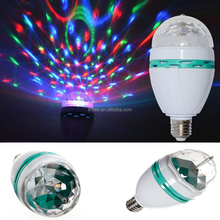 E27 3W 6W LED lamp RGB Auto Rotating Stage light Holiday Bulb AC85V-265V For Home Decoration Disco DJ Party Dance lighting