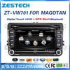 ZESTECH wholesale HD touch screen 2 din head unit car dvd player for vw passat with radio bt usb sd mp3 car gps navigation