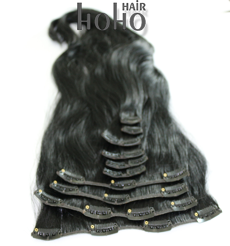 new arrival 100 percent remy brazilian hair weaving clip in