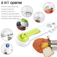 6 Ways Universal Can Opener For Opening Jar Can Bottle Wine Kitchen Practical Multi Purpose All Size in One Tool T-CF-122-1