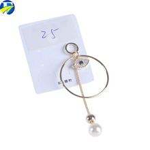 FJ brand Fashion Silk Thread Drop Hanging Tassel Earrings Latest Design Of Pearl Ladies Earrings