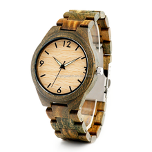 2018 wholesale luxury wood grain bezel wrist watch OEM custom logo wooden men quartz watches