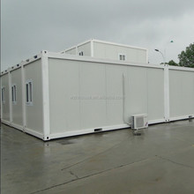 PVC Floor Two 20 Foot Container Home for Office , 15FT Prefab Container House