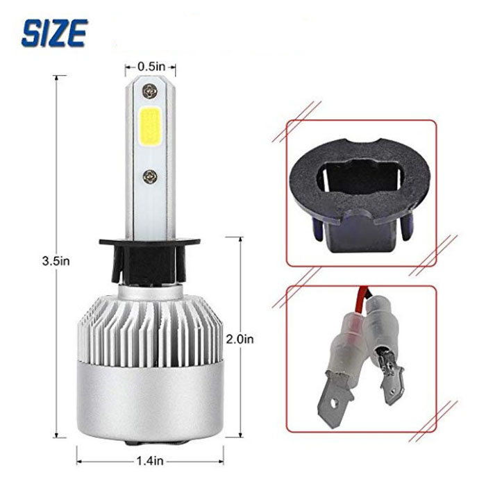High quality Low price led headlight 72w 7200lm c6 Headlamp H7 H4 Car Led Light