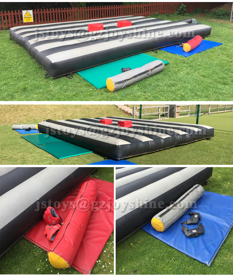 Giant Inflatable Gladiator Sticks Joust Duel Game Inflatable Jousting Set Fighting Games Arena For Adult