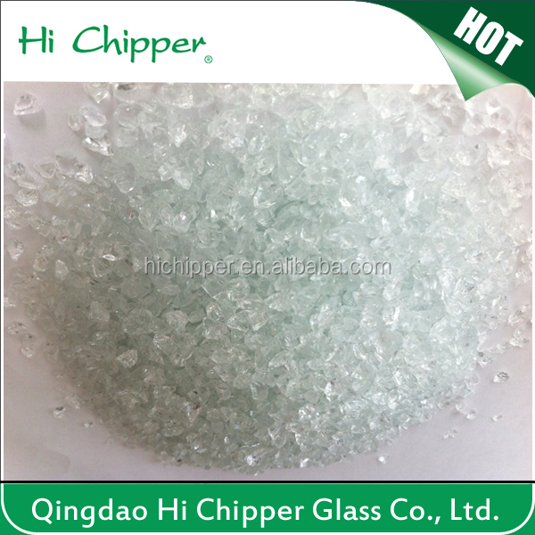0.5-1.5mm clear glass sand for water filter