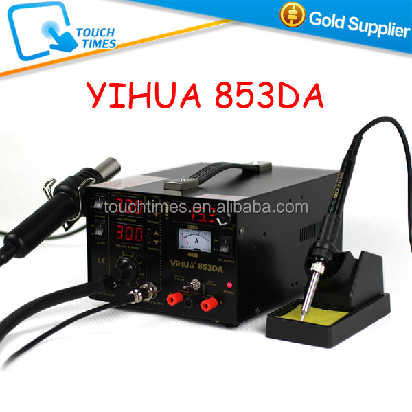 YIHUA 853DA 3 in 1 Hot Air BGA Rework Station Heat Gun Soldering Station With DC Power Supply