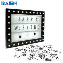Decorative Hollywood LED Letter Cinematic Light Box