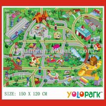 2012 Baby play mat with mini car & roadblock 2028